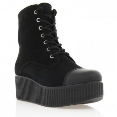 Купить Ботинки женские черные, велюр (2715 чн. Вл (шерсть)) Romastyle по лучшим ценам