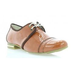Туфли женские рыжие , лакированная кожа ( 2726 риж . Лак ) Romastyle