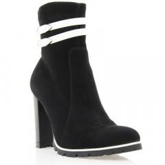 Ботинки женские черные/белые, велюр (2729 чн. Вл+біл. вст. (байка)) Romastyle