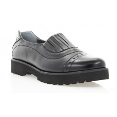 Туфли женские черные, кожа/лакированная кожа (2741 чн. Шк+Лк) Roma style