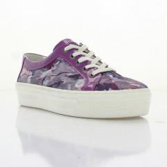 Кеды женские фиолетовые , кожа / лакированная кожа ( 2748 бузок шк + Лк ) Romastyle
