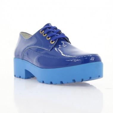 Купити Туфлі жіночі сині, лакована шкіра (2750 сн. Лк) Romastyle за найкращими цінами