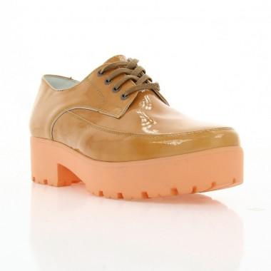 Туфли женские терракотовые, лакированная кожа (2750/1 тер. Лк) Roma style