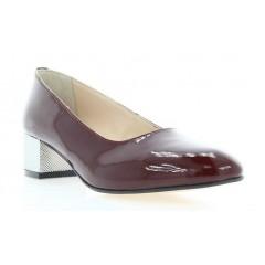 Туфли женские бордовые, лакированная кожа (2766/17 борд. Лк) Roma style