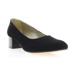 Туфли женские черные , велюр ( 2766 чн . Вл) Roma style