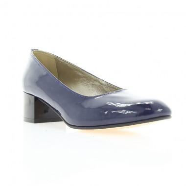 Туфли женские синие, лакированная кожа (2766 сн. Лк) Roma style