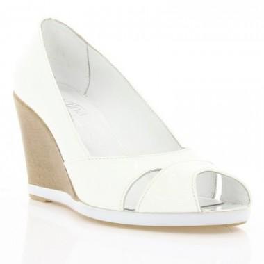 Купити Туфлі жіночі відкриті білі, лакована шкіра (2785 біл. Лк) Roma style за найкращими цінами
