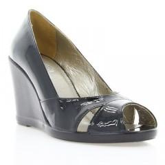 Туфли женские открытые черные, лакированная кожа (2785 чн. Лк) Roma style