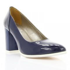 Туфли женские синие, лакированная кожа (2792 сн. Лк) Roma style