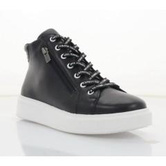 Ботинки женские черные, кожа (2804-21 чн. Шк (байка)) Roma style