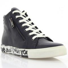 Ботинки женские синие/белые, кожа (2804/1 сн. Шк (байка)) Roma style