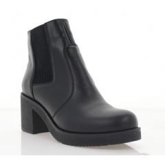 Ботинки женские черные, кожа (2806-20 чн. Шк (байка)) Roma style