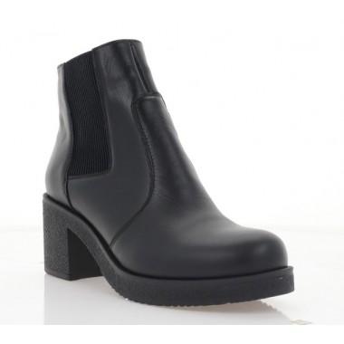 Купить Ботинки женские черные, кожа (2806-20 чн. Шк (шерсть)) Roma style по лучшим ценам
