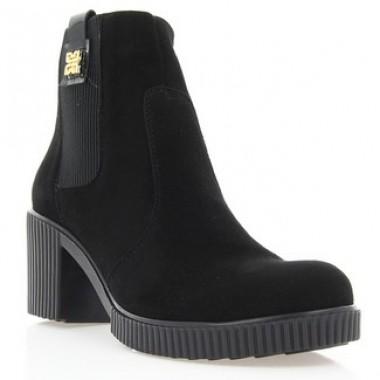 Купить Ботинки женские черные, велюр (2806 чн. Вл (байка)) Roma style по лучшим ценам