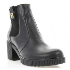Ботинки женские черные, кожа (2806 чн. Шк (байка)) Roma style