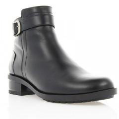Ботинки женские черные, кожа (2808 чн. Шк (шерсть)) Romastyle