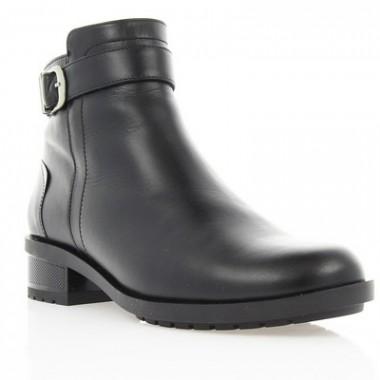 Купить Ботинки женские черные, кожа (2808 чн. Шк (шерсть)) Romastyle по лучшим ценам