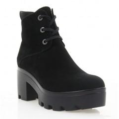 Ботинки женские черные, велюр (2810/1 чн. Вл (байка)) Roma style