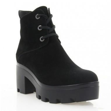 Купить Ботинки женские черные, велюр (2810/1 чн. Вл (байка)) Roma style по лучшим ценам