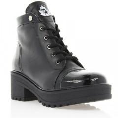 Ботинки женские черные, кожа (2821 чн. Шк (шерсть)) Romastyle