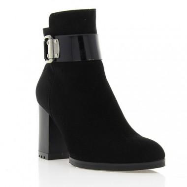 Купить Ботинки женские черные, велюр (2848 чн. Вл (байка)) Roma style по лучшим ценам