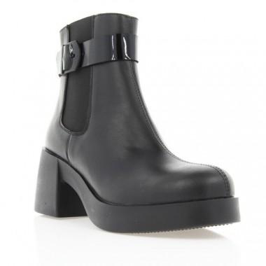 Купить Ботинки женские черные, кожа (2849 чн. Шк (байка)) Romastyle по лучшим ценам
