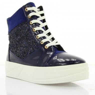 Купить Ботинки женские синие, лакированная кожа/замш (2855 сн. Лк (байка)) Roma style по лучшим ценам