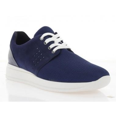 Купити Кросівки жіночі сині, сітка/замш (2866-19 сн. СТК+Зш) Roma style за найкращими цінами