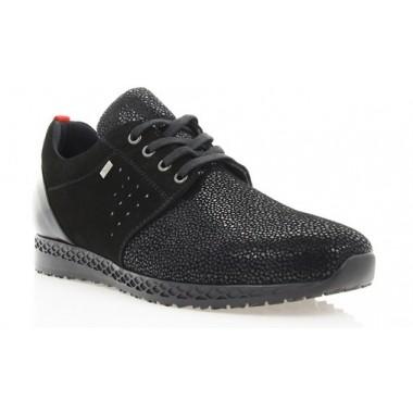 Купити Кросівки жіночі чорні, замш/лакована шкіра (2866 чн. Зш+Лк) Roma style за найкращими цінами