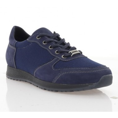 Купить Кроссовки женские синие, нубук/сетка (2867-19 сн. Нб + СТК) Roma style по лучшим ценам