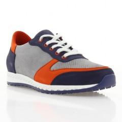 Кросівки жіночі сині/сірі/червоні, нубук (2867 сн/сір_черв. Нб) Roma style