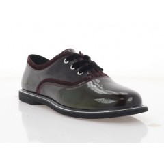 Туфли женские бордовые, лакированная кожа (2876-20 бордо Лк) Roma style