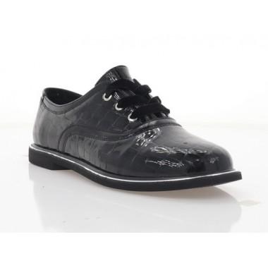 Туфли женские черные, лакированная кожа (2876-20 чн. Лк) Roma style