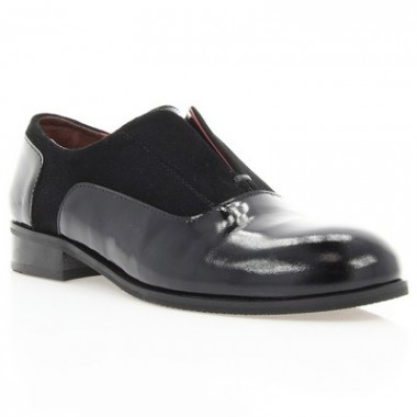 Купить Туфли женские черные, лакированная кожа/велюр (2879 чн. Лк+Вл) Roma style по лучшим ценам