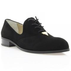 Туфли женские черные, велюр (2880/1 чн. Вл) Roma style