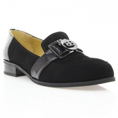 Купить Туфли женские черные, велюр (2888 чн. Вл) Roma style по лучшим ценам