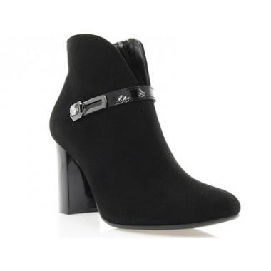 Купити Ботильйони жіночі чорні, велюр/лакована шкіра (2901 чн. Вл) Roma style за найкращими цінами