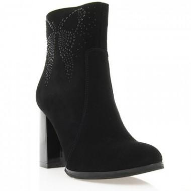Купить Ботинки женские черные, велюр (2903 чн. Вл) Roma style по лучшим ценам