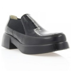 Туфли женские черные, кожа/лакированная кожа (2906 чн. Шк+Лк) Roma style