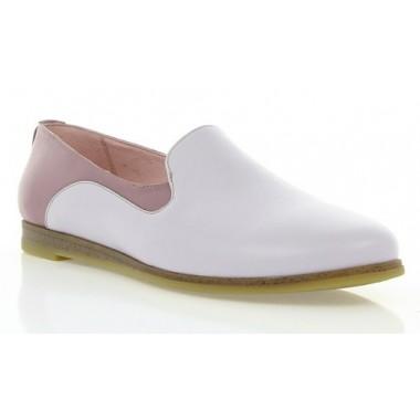 Купить Балетки женские розовые/фиолетовые, кожа (2907 фіол. Шк) Roma style по лучшим ценам