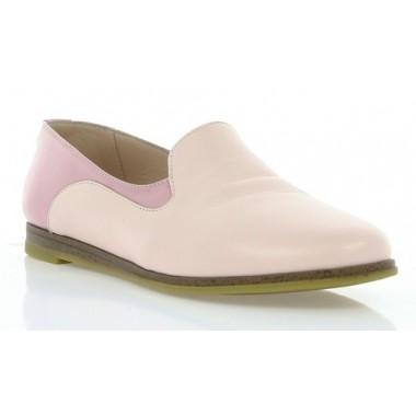 Купить Балетки женские розовые, кожа (2907 рожева Шк) Roma style по лучшим ценам