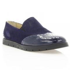 Туфлі жіночі сині, замш/лакована шкіра (2909 сн. Лк+Зш) Roma style