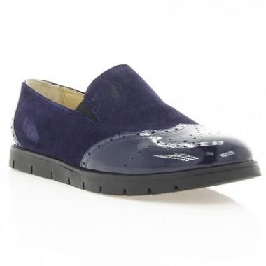 Купить Туфли женские синие, замша/лакированная кожа (2909 зн. Лк+Зш) Roma style по лучшим ценам