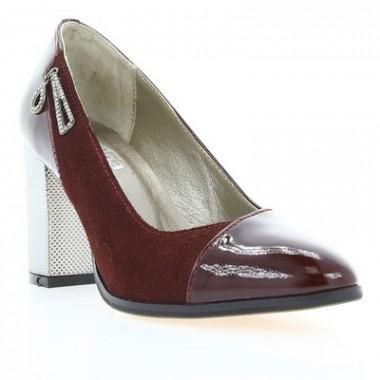 Купить Туфли женские бордовые, лакированная кожа (2910 борд. Лк) Roma style по лучшим ценам