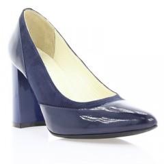 Туфли женские синие, лакированная кожа (2912 сн. Лк) Roma style