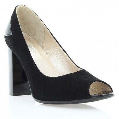 Купить Туфли женские черные, велюр/лакированная кожа (2914 чн. Вл+Лк) Roma style по лучшим ценам