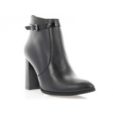 Купити Ботильйони жіночі чорні, шкіра (2932 чн. Шк) Roma style за найкращими цінами