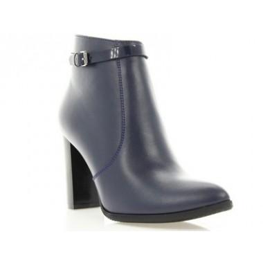 Купить Ботильоны женские синие, кожа (2932 сн. Шк) Roma style по лучшим ценам