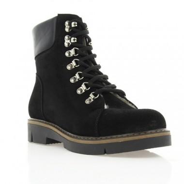 Купить Ботинки женские черные, замша (2933 чн. Зш (шерсть)) Roma style по лучшим ценам