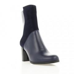 Ботинки женские синие, кожа/велюр (2934 сн. Шк) Roma style